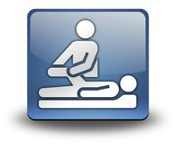 Icon, Button, Pictogram Physical Therapy. Icon, Button, Pictogram with Physical Therapy symbol Stock Photography