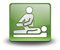 Icon, Button, Pictogram Physical Therapy. Icon, Button, Pictogram with Physical Therapy symbol Royalty Free Stock Image
