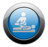 Icon, Button, Pictogram Physical Therapy. Icon, Button, Pictogram with Physical Therapy symbol Royalty Free Stock Images