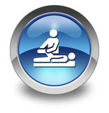 Icon, Button, Pictogram Physical Therapy. Icon, Button, Pictogram with Physical Therapy symbol Royalty Free Stock Photography