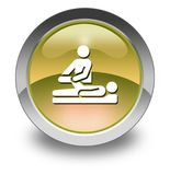 Icon, Button, Pictogram Physical Therapy. Icon, Button, Pictogram with Physical Therapy symbol Royalty Free Stock Photo