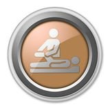 Icon, Button, Pictogram Physical Therapy. Icon, Button, Pictogram with Physical Therapy symbol Stock Images