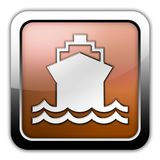 Icon, Button, Pictogram Ship, Water Transportation. Icon, Button, Pictogram with Ship, Water Transportation symbol Royalty Free Stock Photo