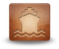 Icon, Button, Pictogram Ship, Water Transportation. Icon, Button, Pictogram with Ship, Water Transportation symbol Stock Photo