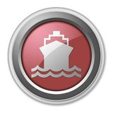 Icon, Button, Pictogram Ship, Water Transportation. Icon, Button, Pictogram with Ship, Water Transportation symbol Stock Images