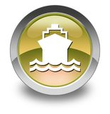 Icon, Button, Pictogram Ship, Water Transportation. Icon, Button, Pictogram with Ship, Water Transportation symbol Royalty Free Stock Photos
