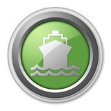 Icon, Button, Pictogram Ship, Water Transportation. Icon, Button, Pictogram with Ship, Water Transportation symbol Royalty Free Stock Photography