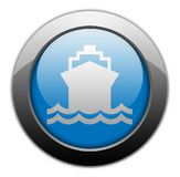 Icon, Button, Pictogram Ship, Water Transportation. Icon, Button, Pictogram with Ship, Water Transportation symbol Royalty Free Stock Images