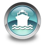 Icon, Button, Pictogram Ship, Water Transportation. Icon, Button, Pictogram with Ship, Water Transportation symbol Stock Photography