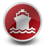 Icon, Button, Pictogram Ship, Water Transportation. Icon, Button, Pictogram with Ship, Water Transportation symbol Stock Image
