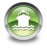Icon, Button, Pictogram Ship, Water Transportation. Icon, Button, Pictogram with Ship, Water Transportation symbol Royalty Free Stock Image
