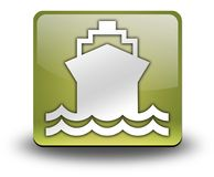 Icon, Button, Pictogram Ship, Water Transportation. Icon, Button, Pictogram with Ship, Water Transportation symbol Stock Photos