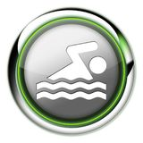 Icon, Button, Pictogram Swimming. Icon, Button, Pictogram with Swimming symbol Royalty Free Stock Image