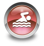 Icon, Button, Pictogram Swimming. Icon, Button, Pictogram with Swimming symbol Royalty Free Stock Photos
