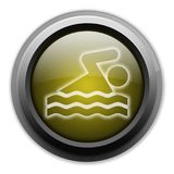 Icon, Button, Pictogram Swimming. Icon, Button, Pictogram with Swimming symbol Stock Photos