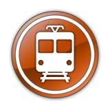 Icon/Button/Pictogram Train. Icon/Button/Pictogram with Train symbol Stock Image