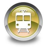 Icon/Button/Pictogram Train. Icon Button Pictogram with Train symbol Royalty Free Stock Photos