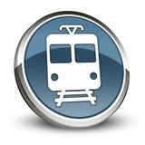 Icon/Button/Pictogram Train. Icon/Button/Pictogram with Train symbol Royalty Free Stock Photo