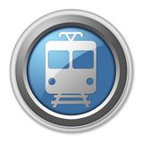 Icon/Button/Pictogram Train. Icon/Button/Pictogram with Train symbol Royalty Free Stock Images