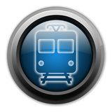 Icon/Button/Pictogram Train. Icon/Button/Pictogram with Train symbol Royalty Free Stock Photography
