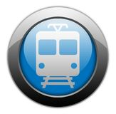 Icon/Button/Pictogram Train. Icon/Button/Pictogram with Train symbol Stock Image