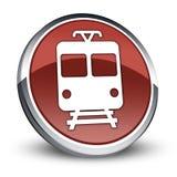 Icon/Button/Pictogram Train. Icon/Button/Pictogram with Train symbol Royalty Free Stock Photos