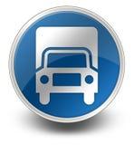 Icon, Button, Pictogram Trucks. Icon, Button, Pictogram with Trucks symbol Stock Photography