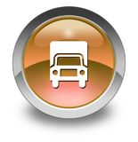 Icon, Button, Pictogram Trucks. Icon, Button, Pictogram with Trucks symbol Stock Image