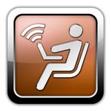 Icon, Button, Pictogram Wireless Access. Icon, Button, Pictogram with Wireless Access symbol Royalty Free Stock Photo