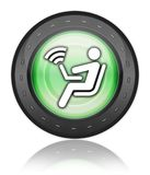 Icon, Button, Pictogram Wireless Access. Icon, Button, Pictogram with Wireless Access symbol Stock Image