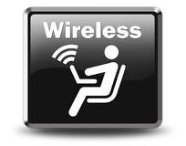 Icon, Button, Pictogram Wireless Access. Icon, Button, Pictogram with Wireless Access symbol Stock Photos