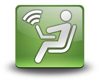 Icon, Button, Pictogram Wireless Access. Icon, Button, Pictogram with Wireless Access symbol Stock Photo