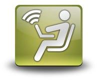Icon, Button, Pictogram Wireless Access. Icon, Button, Pictogram with Wireless Access symbol Royalty Free Stock Image