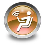 Icon, Button, Pictogram Wireless Access. Icon, Button, Pictogram with Wireless Access symbol Royalty Free Stock Image