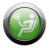Icon, Button, Pictogram Wireless Access. Icon, Button, Pictogram with Wireless Access symbol Stock Photography