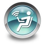 Icon, Button, Pictogram Wireless Access. Icon, Button, Pictogram with Wireless Access symbol Stock Photography