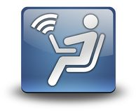 Icon, Button, Pictogram Wireless Access. Icon, Button, Pictogram with Wireless Access symbol Royalty Free Stock Images