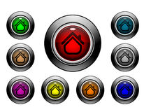 Icon Button Series - Home 2 Royalty Free Stock Photo