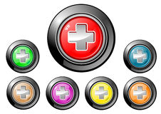 Icon Button Series - Medical Royalty Free Stock Photos