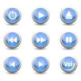 Icon button set. For control panel isolated on white background for finger push to start Royalty Free Stock Photography