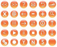 Icon Button Set For Navigation Stock Images