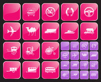 Icon or button set2 vector. This image is a vector illustration.The  transport symbols useful any website.Available in two color.Easy to edit Royalty Free Stock Photo