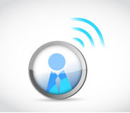 Icon button with a wifi connection. Stock Image