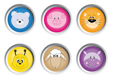 Icon buttons animals Royalty Free Stock Photos