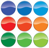 Icon buttons in different colors. raster Stock Photo