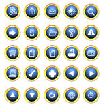 Icon buttons for the web stock illustration
