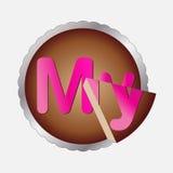 Icon cake. Icona per compleanni,  ricette, profilo, pagine personali Royalty Free Stock Photo