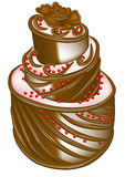 Icon of cake Stock Images