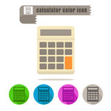 Icon calculator colorful design vector on white background. Icon set calculator colorful design vector on white background Stock Photos