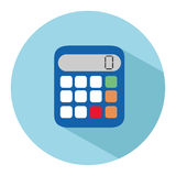 Icon of a calculator in flat style. Vector illustration Royalty Free Stock Photo